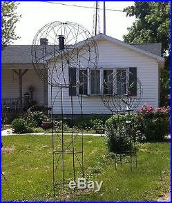 114 tall Garden Metal Art Ball Tower Yard Sculpture Medium Art Work 3 Sizes