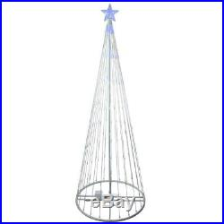 12' Animated LED Lighted Blue Show Cone Tree Outdoor Christmas Yard Decoration