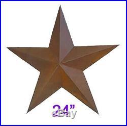 24 Primitive Rustic Barn Star, home, yard, wall Deor Antique Metal Stars (48pcs)