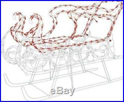 34 Prelit Classic Sleigh Twinkling Red White LED Outdoor Yard Christmas Decor