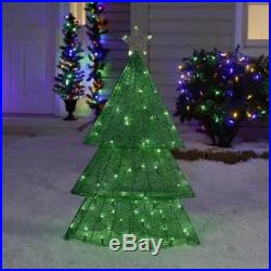36 Light Show Lighted Green Christmas Tree Sculpture Outdoor Holiday Yard Art