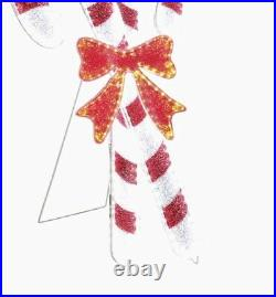 36 Lighted Candy Cane Sculpture Display Outdoor Christmas Yard Decoration