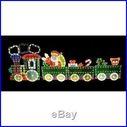 4-Piece Holographic Lighted Motion Train Set Christmas Yard Art Decoration 8.5