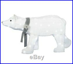 46 Lighted White Ice Polar Bear Sculpture Pre Lit Outdoor Christmas Decor Yard