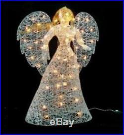 48 Lighted Elegant Glittered Angel Outdoor Christmas Yard Art Decoration