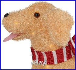 48in 120l Led Fuzzy Golden Retriever Holiday Christmas