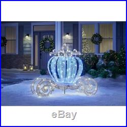 5' LIGHTED 3-D CRYSTAL LED Twinkling Carriage OUTDOOR CHRISTMAS Yard Decor