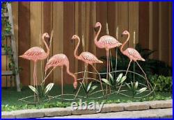 5 Metal Pink Flamingos Lawn Garden Stake Flamingo Statue Sculpture Decor Yard
