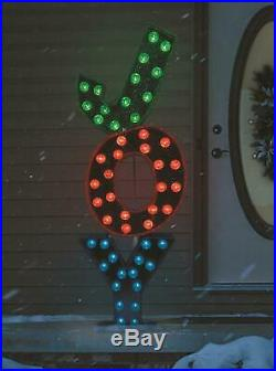 52 Lighted JOY Marquee Sign Sculpture Outdoor Christmas Decor Holiday Yard Art