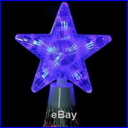 6' Animated LED Lighted Multi Color SHOW CONE Tree Outdoor Christmas Yard Decor