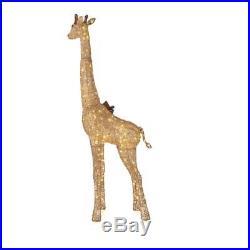 6 Foot Outdoor Lighted Giraffe 3D Sculpture Pre Lit Christmas Yard Lawn Decor