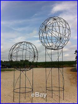 60 Garden Metal Art Ball Tower Yard Sculpture Smallest Art Work of 3 Sizes