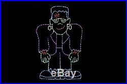 7'3 Frankenstein Halloween LED light metal wire frame outdoor yard lawn display
