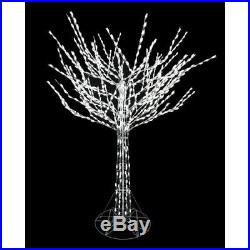 8 ft. LED Pre-Lit Bare Branch Tree with White Lights Christmas Yard Decoration