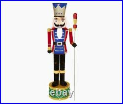 80 Lighted Nutcracker Toy Soldier Sculpture Outdoor Christmas Yard Decoration