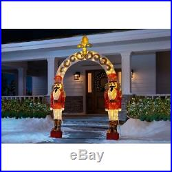 9 FT Tall Nutcracker Sculpture Arch Christmas Yard Decor Indoor Outdoor Pre-Lit