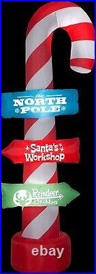 96 Outdoor Lighted Inflatable Candy Cane Sculpture Yard Decor Figurine NEW
