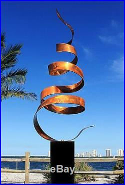 Abstract Modern Copper Freestanding Metal Yard Garden Sculpture Contemporary