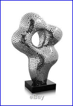 Abstract Stainless Steel Sculpture 1000 Small High-Polished Welded Wow