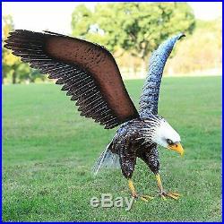 America Eagle Statue Sculpture Metal Bald Eagle Garden Statue Bird Yard Decor