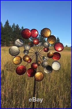 Art Kinetic Wind Sculpture Spinner Jumbo Metal Outdoor Garden Yard Lawn Decor