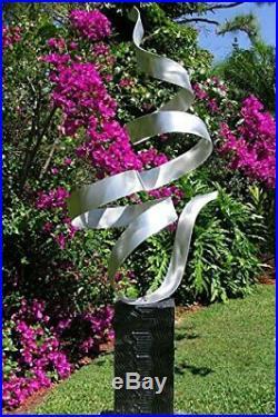 Beautiful Silver Modern Metal Art Garden Sculpture Yard Art Sculptor Jon Allen