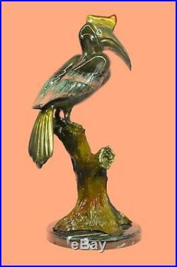 Bronze Heron Crane Bird Metal Garden Patio Yard Standing Art Sculpture Statues
