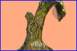 Bronze Heron Metal Yard Art Ltd Edt Sculpture Bird Crane Statue Coastal Decor