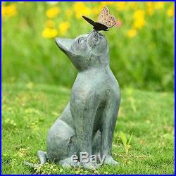 Cat Aluminum Bronze Lawn Porch Yard Home Garden Outdoor Sculpture Statue Decor