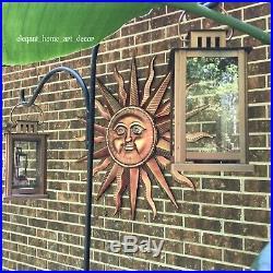 Celestial Sun Wall Plaque Huge Rustic Textural Solar Rays Yard Garden Home Panel