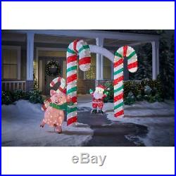 Christmas Candy Cane Lane Archway Entryway Yard Decor 350-Lights Metal Stakes