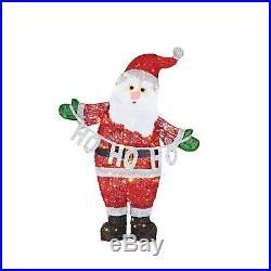 Christmas Decoration LED Lighted Acrylic Santa 37-in Holiday Outdoor Yard Decor