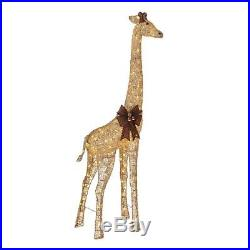 Christmas Decoration LED Lighted Gold Grapevine Giraffe 73-In Outdoor Yard Decor