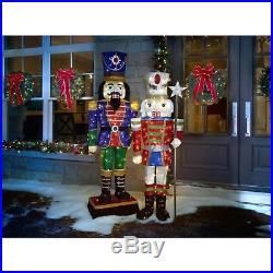 Christmas Decoration LED Tinsel Nutcracker 72-inch Holiday Outdoor Yard Decor