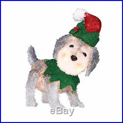 Christmas Decorations Lighted Dog Sculpture Pre-lit Holiday Outdoor Yard Decor
