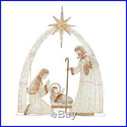 Christmas Giant Nativity Scene 120 in. 440-Light LED Holiday Yard Decoration