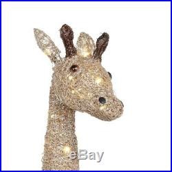 Christmas Gold Grapevine Giraffe 73 in. 160 LED Lighted Outdoor Yard Decoration