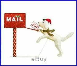 Christmas Lighted Dog Mailbox 43 Holiday Yard Decor Display Lawn Sculpture