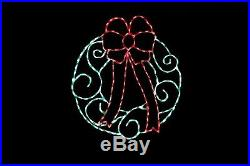 Christmas Wreath LED light wire frame outdoor yard lawn decoration display
