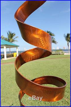 Copper Freestanding Abstract Metal Sculpture Indoor Outdoor Yard/Home Decor