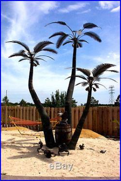 Designer Palms 3 Metal Palm Trees Art Yard Sculpture