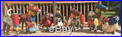 EE i EE i O Cow Reclaimed Metal Yard Sculpture Signed