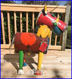 EE i EE i O Henry the Horse Reclaimed Metal Yard Sculpture Large Signed