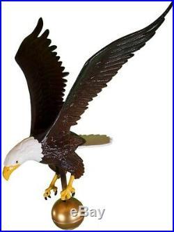 Eagle Flagpole Topper 18 Metal Patio Sculpture Yard Ornament USA RV Camp Site A