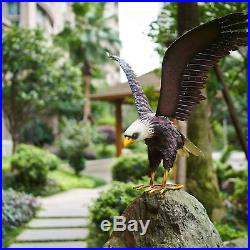 Eagle Statue Outdoor Garden Decorations Metal Yard Art Garden Statues Sculpture