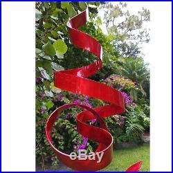 Extra Large Metal Sculpture Modern Red Abstract Yard Art Garden Decor Jon Allen