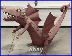 Faded Red Metal Dragon Yard Art Sculpture Ornament 58 Length 25 Wingspan