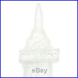 Festive Christmas LED Lighted Twinkling PVC Eiffel Tower 86 In. Tall Yard Decor
