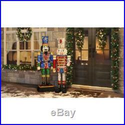 Festive Christmas Tinsel Nutcracker Yard Decor 72 In. Tall LED Holiday Display