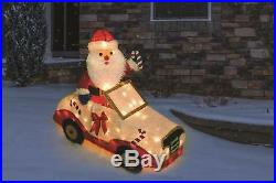 Festive Set of 3 Transportation Santa Claus Sculptures Christmas Outdoor Yard